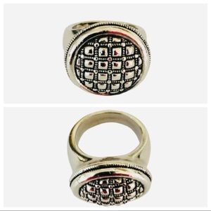 Judith Jack Round Sterling Silver Ring Sz 7